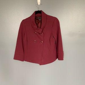 Banana Republic Crop Button Blazer Purple Size XS